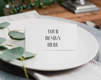 Styled Stock Photography | Styled Tabletop with Placecard | Calligraphy | Styled Wedding | Digital Image