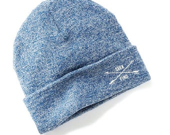 Seek & Find Cuffed Camp Beanie - Blue Marl