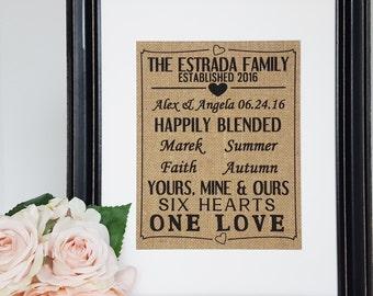 Blended Family Wedding Gift - Wedding Gift For Blended Family - Blended Family - Stepmother Gift - Step Family Sign - Joined Family Sign