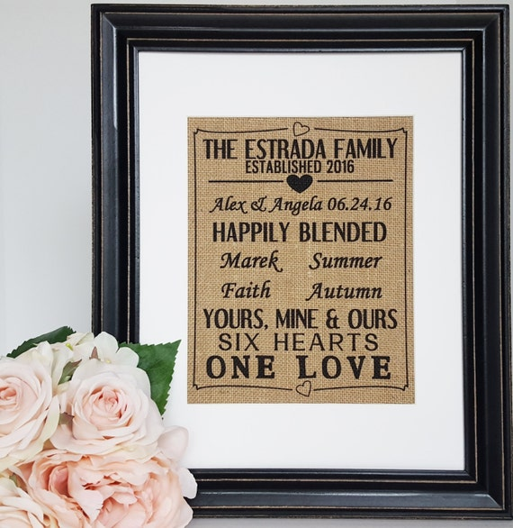Wedding Gift Ideas Blended Family : Family Wedding Gift - Wedding Gift For Blended Family - Blended Family ...
