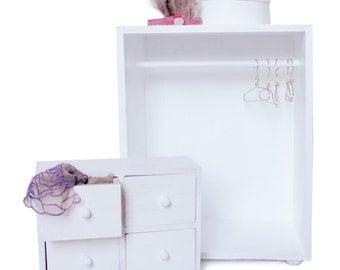 BÄIBI DOLLS wardrobe, armoir, drawer