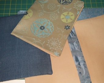 fabric custom fabric spiral notebook with pad