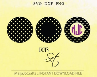 Patterned SVG Circle monogram Svg cut files DXF file instant download Silhouette cameo designs Cricut cut file PNG Clipart Vector file