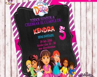 Invitation Dora and her friends