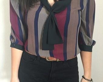80's secretary blouse