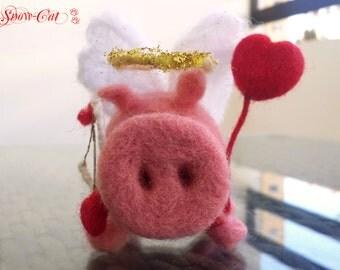 Needle Felted Pig - Felt pig