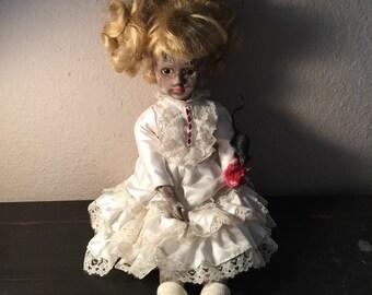 Nina Beth creepy Gothic Victorian horror doll