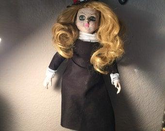 Johanna Creepy Goth Gothic Dark  Widow Doll