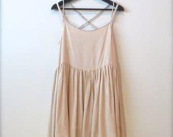 HANADEEN Prairie Air Dress - Gathered Hem, Criss-Cross Back