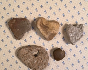 Brown County Indiana Heart shaped rocks #55