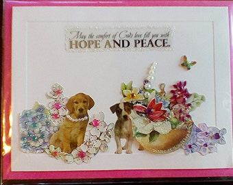 Hope and Peace Puppy greeting card