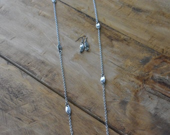 Set necklace and buckle and stainless steel