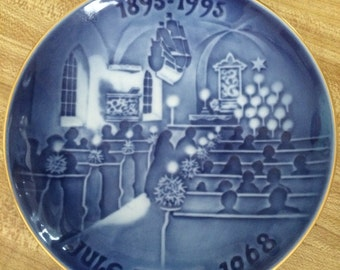 "Bing & Grondahl-Xmas Plates The Centennial Collection '94 ""Christmas in Church"""