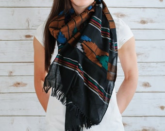 Fairtrade fire dhakka cotton scarves