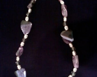 Amethyst necklace with semi precious stones from Israel
