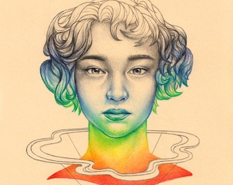 d20 - Greeting Card - Rainbow Portrait