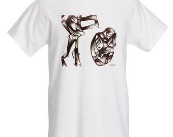 White abstract art Tshirt