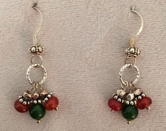 Jade & Carnelian Earrings