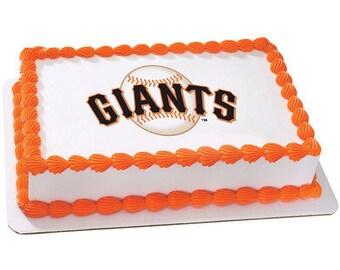 MLB San Francisco Giants Edible Cake / Cupcake Topper