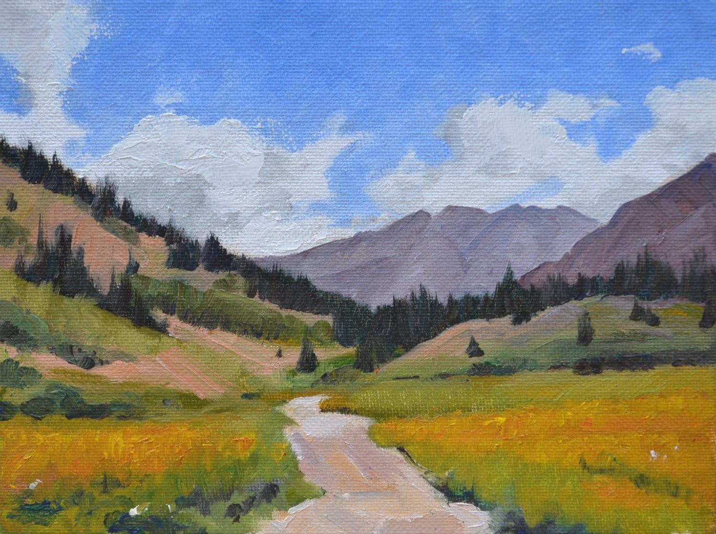 Colorado Rocky Mountain landscape oil painting western art