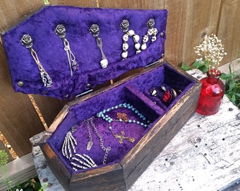 Coffin Jewelry Box, Coffin Box, Jewelry Box, Gothic, Coffin, Goth