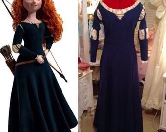 Disney Princess Merida Dress Brave Cosplay