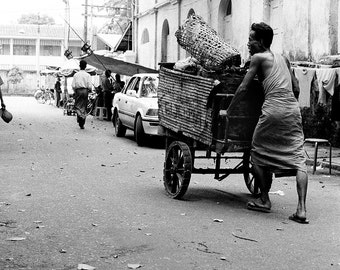 Basket Vendor, Rangoon, Burma.