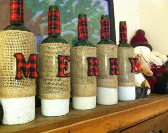 Wine Bottle Holiday Decor