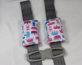 Minky Seat Belt Strap Covers