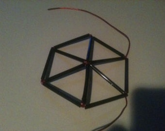 The Magic Tetrahedron Christmas tree ornament