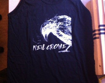 Crow Tank Top Neil Crowe musician clothes american Apparel black and white
