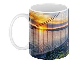 SAN FRANCISCO Golden Gate Bridge Ceramic Coffee Mug - 110z.