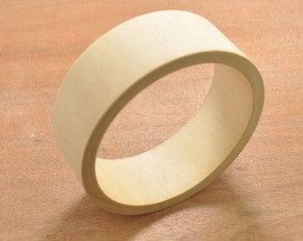 5pcs Unfinished Wood Bangle ,70mm(2.75''inch)diameter Bracelet Craft,Simple Wooden Bracelet,Stacking Bracelets,Raw Wood Bracelet