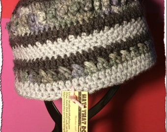 Black & Gray Beanie/Hat/Toque