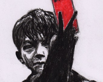 Kes - Selfie Limited Edition Mounted Print
