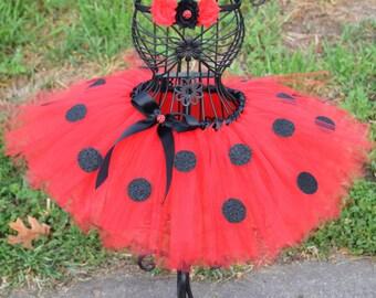 Lady Bug tutu set - Birthday Tutu - Tutu - First Birthday - lady bug party - Cake Smash Outfit - lady bug headband - lady bug tutu