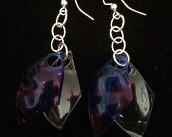 Upcycled plastic earrings