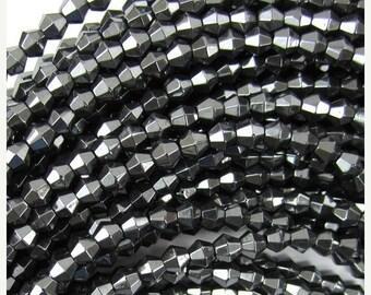 "10% SALE 4mm hematite bicone beads 15.5"" strand 34962"