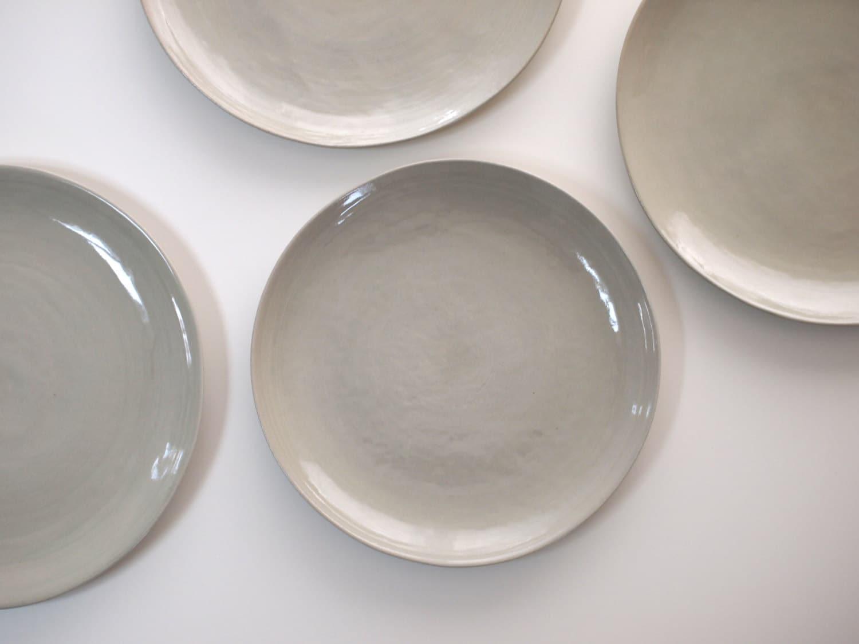 stoneware plates dinner set glazed in grey ceramic plate