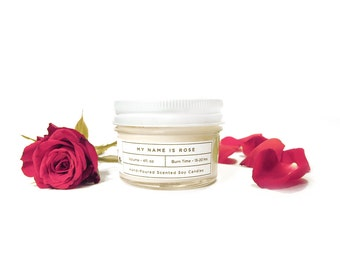 Rose Soy Candle - 4oz Hand Poured