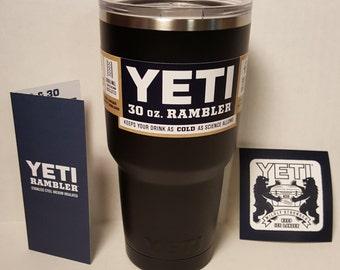 Powder Coated YETI Rambler 30oz - Black