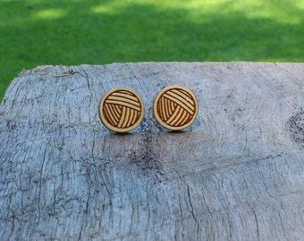 Yarn Timber Earrings