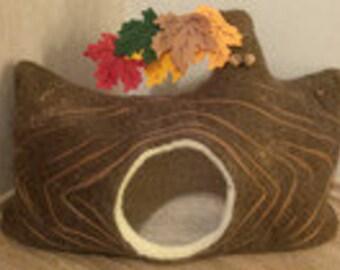 cat cave autumnal tree trunk/cat bed/felt bed/pet bed