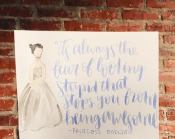 The Heir Quote- Lettered Painting