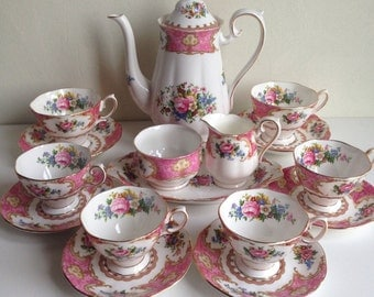 Royal Albert Lady Carlyle Set Vintage Bone China England