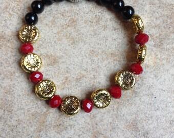 January Birthstone Garnet Bracelet