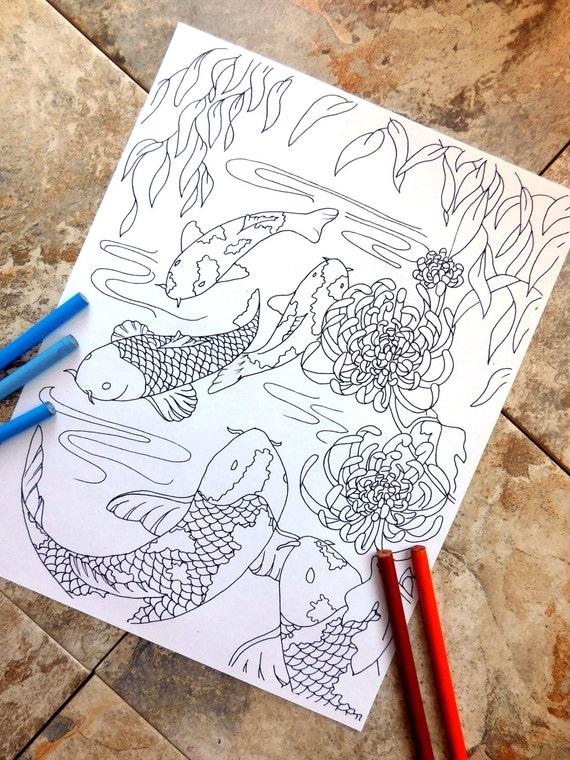 Pescado página para colorear colorear páginas página para