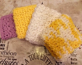 Crocheted Baby Wash Cloths
