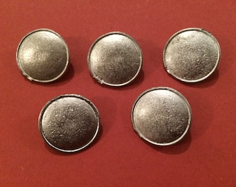 23mm Domed Pewter Button w/Lip (5 Pack) - Re-Enactment, Living History