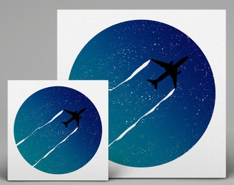 Even Those Bright Stars Are Just Planes In The Night - Print